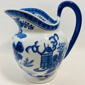 Chinese Pitcher Asian Oriental Art Decor Blue...
